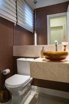 Lavabo com pia esculpida banhos e lavabos pinterest for Fotos lavabos pequenos