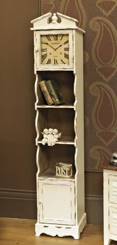 Grandfather clock shelving