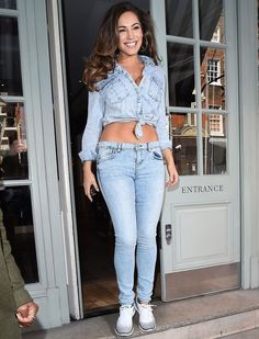 Kelly Brook Wearing Double Denim