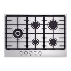 IKEA - ELDSLÅGA, Gas hob, 5 year guarantee. Read about the terms in the guarantee brochure.You can coordinate your entire kitchen as the hob matches in style and colour with IKEA appliances.No need to use matches or a lighter as the burners ignite by just pushing in and turning the knobs.You can cook with more precision because the burners give you better control over both heat and cooking time.Saves you money because the burners are up to 13% more efficient than traditional gas ...