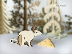 Adorable 3D laser cut Mouse / Woodland animals / Mouse figurine / Forest animals / Pretend play / Mouse figure / Laser cut animals / Mouse by DosheEcoDecorCharms on Etsy
