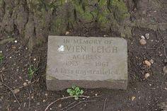 Memorial stone for Vivian Leigh - cremated