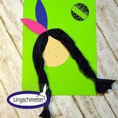 Einladungskarten - Einladung Kindergeburtstag Indianer POCAHONTAS - ein Designerstück von Lingschmetter bei DaWanda