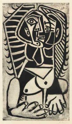 Pablo Picasso,Torse de femme - L'Egyptienne, 1953
