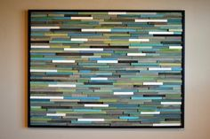 Modern Wood Sculpture Wall Art - 36 - Skinny Rectangles - Blues, Greens, Turquoise, Grays, and White Large Wood Wall Art, Modern Wall Art, Painting Frames, Painting On Wood, Painting Abstract, Cubes, Reclaimed Wood Art, Distressed Wood, Scale Art