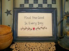 Primitive Decor Stitchery Picture Sampler Country by wvluckygirl, $12.99