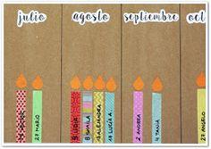 Manga por Hombro: Calendario de cumpleaños con washi tape