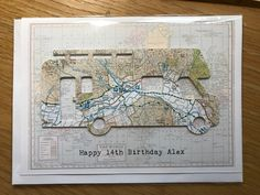 Another Map Location order from my Etsy/online store Map Mojo (check it out!!) www.mapmojo.co.uk or www.etsy.com/shop/mapmojo.  I've started a purely map based business online but still sell cards in local shops Os Maps, 14th Birthday, Online Business, Vintage World Maps, Birthdays, Shops, Inspired, Frame, Check