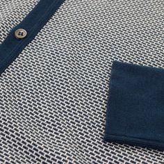 John Smedley Store | Jura Jacquard Indigo Polo Shirt