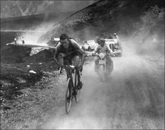 Mario Vicini on the Pyrenean stage of the 1937 tour de France