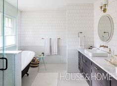 The secret to enjoying an early wake-up call may be simpler than you think! Renovate your bathroom to make getting ready something to look forward to. Bathroom Tile Designs, Bathroom Trends, Bathroom Interior Design, Bathroom Styling, Home Interior, Bathroom Ideas, Bathroom Organization, Organization Ideas, Bathroom Inspo