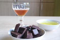 Recette de mousse au chocolat à la bière d'Orval!  http://lydieschoice.blogspot.be/2016/08/la-biere-dorval-en-mousse-dessert.html