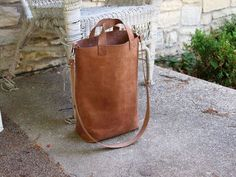 DIY leather tote via Instructables                                                                                                                                                                                 More