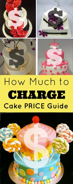 ? Cake Pricing Guide: How Much to Charge for Cakes(Pricing Cakes). Are you wondering how much to charge for a cake? Are you wanting to check your prices are what other people are charging (as you don't want to undercharge or overcharge – charge too much, or even worse, not enough!)