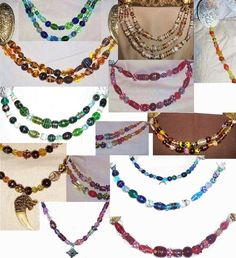 SCA Garb Norse Viking Medieval Cascade Necklace Oversize Lampwork Glass Beads Your CHOICE Color 3 Strands. $48.00, via Etsy.