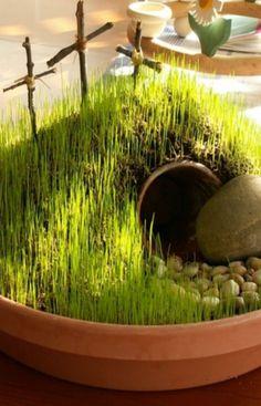 DIY Mini Resurrection Garden Kristen Welch – Donne e Moda Easter Activities, Easter Crafts For Kids, Easter Garden, Diy Garden, Green Garden, Garden Ideas, Resurrection Day, Sunday School Crafts, Easter Table