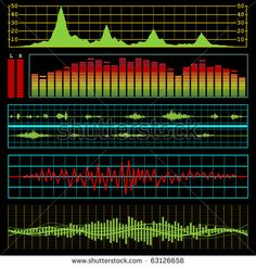Vector Download » Music waves and audio equalizer background