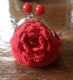 Rood met een roos