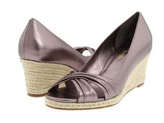 Cole Haan Air Camila OT Wedge 65 in Gunmetal - trying to decide between this color and Prussian Blue (both are gorgeous in person)