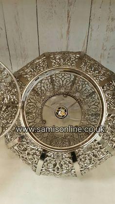 Silver Moroccan Arabian Metal Beaded Vintage by ArabianHomeDecor