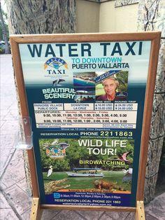 Nuevo Vallarta water taxi to Old Town Puerto Vallarta. Departs near the Paradise Village mall. Taken December 2015