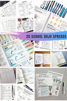 25 Creative School Bullet Journal Layouts {to help you stay on top of your study game! Keeping A Bullet Journal, Bullet Journal Student, Bullet Journal Tracker, Bullet Journal Hacks, Bullet Journal Themes, Bullet Journal Spread, Bullet Journal Layout, Bullet Journal Inspiration, Journal Ideas