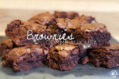 Retrouvez la recette des brownies comme aux USA. Recette authentique du vrai brownie made in Etats-Unis, inratable, facile et rapide à réaliser !