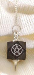 Schwarzer Turmalin Pentagramm Pendel