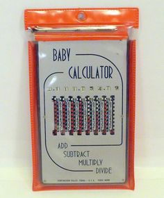 Vintage Mechanical Baby Calculator w/ Case & Stylus Add Subtract Multiply Divide