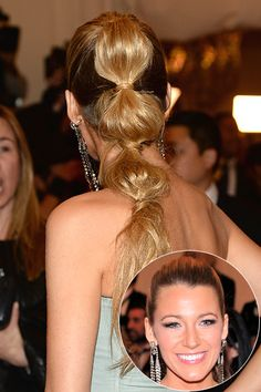 Non-Boring Hairstyles for Long Hair - Daily Makeover || Bubble Ponytail  Blake Lively's segmented look is way more interesting than your average ponytail and just as easy to style. Disguise your elastics by wrapping them with a strand of hair to make the look more sophisticated.