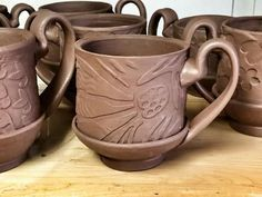 Thrown and Handbuilt Mugs