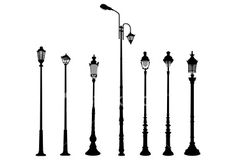 lamp post silhouttes