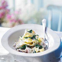 Smoked mackerel with horseradish tagliatelle