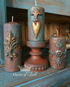 Fancy Candles, Diy Candles, Pillar Candles, Diy Candle Pedestal, Iron Orchid Designs, Unity Candle, Acrylic Art, Hobbies And Crafts, Candle Making