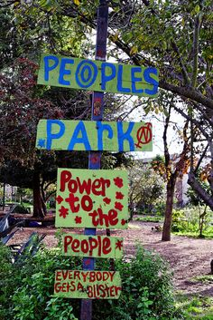 People's Park  Berkely, ca Pictures | Sign at the Entrance to People's Park, Berkeley | Flickr - Photo ...