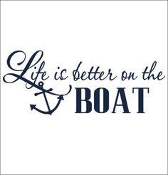 La vie est meilleure sur le bateau Wall par CustomVinylbyBridge