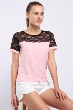 Lace Chiffon Casual Blouse - FashionandLove.com