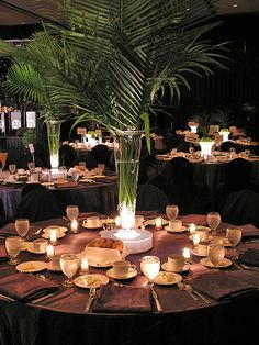 This is a great example for your intimate dinner party. The use of candle light saves the stress (and cost!) of professional lighting.