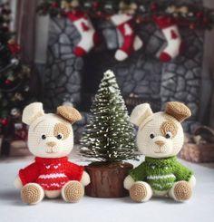 Собачки амигуруми игрушки крючком
