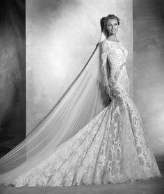 Varel, vestido de noiva sexy, decote redondo, estilo romântico