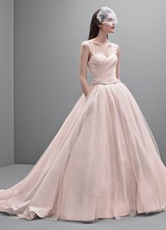 White by Vera Wang Taffeta and Tulle Wedding Dress VW351233