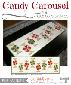 CANDY CAROUSEL Table Runner
