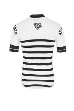 Core Jersey - Black/White Striped Cycling Jersey Attaquer - 2