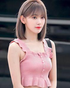 Korean Hair Color, Korean Short Hair, Korean Girl, Medium Hair Styles, Long Hair Styles, Hair Color Streaks, Shot Hair Styles, Beautiful Asian Girls, Ulzzang Girl