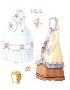 Little Women paper dolls, convention souvenir set