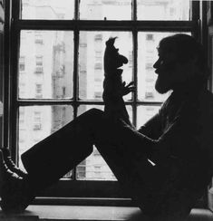 Jim Henson playing with the 'Bert' puppet, 1971 - Imgur