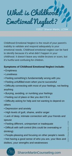 What is Childhood Emotional Neglect? - Sharon Martin, LCSW Counseling San Jose and Campbell, CA What Is Childhood, Childhood Quotes, Complex Ptsd, Bulletins, Stress Disorders, Psychology Quotes, Color Psychology, My Demons, Emotional Abuse