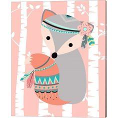 Tribal Fox Girl I By Tamara Robinson Canvas Art - Multi My Canvas, Canvas Artwork, Framed Artwork, Tribal Fox, Fox Girl, Find Art, Baby Shop, Kids Room, Cartoon