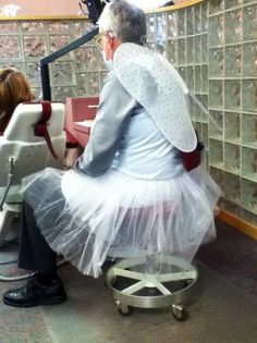 dentist dressed as the tooth fairy tooth fairy halloween costumetooth costumeoffice