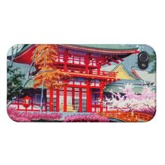 Cool japanese Red Temple Spring Asano Takeji Case For iPhone 4